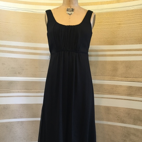 Vera Wang Dresses Black Calf Length Dress Poshmark